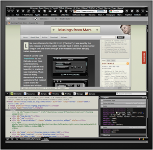 Preview of Crystal Black Theme for Safari's Web Inspector