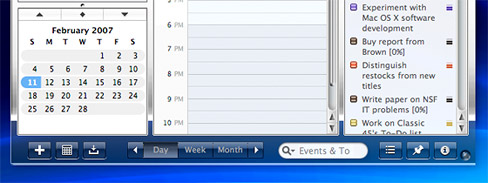 iCal's bottom buttons showing anomalous tab text colors