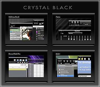 Preview of Crystal Black Theme for Snow Leopard