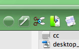 Crystal Menubar Icon in Finder Toolbar