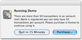 iBank Demo Warning