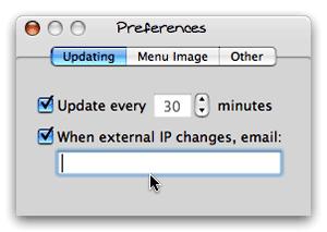 IPmenu's preference settings