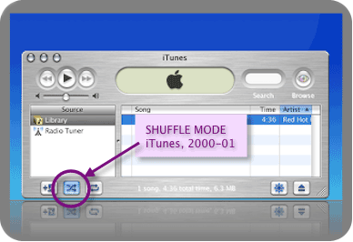 iTunes 1.1 Had Shuffle Mode, Of Course!