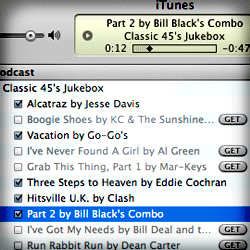 New Classic 45s Jukebox Feed in iTunes List