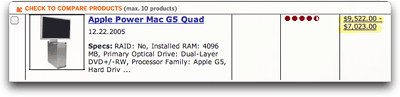 PC Magazine's Table Showing PowerMac Quad