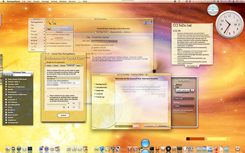 Screenshot with CrystalClear Interface 1.9