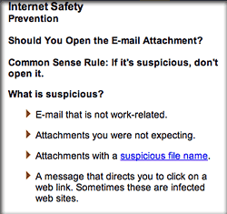 Apparently, you have to be really careful when opening email attachments, since they might attack your computer.