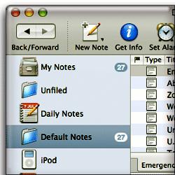 Soho Notes Main Window
