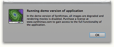 Synthimax Beta Warning